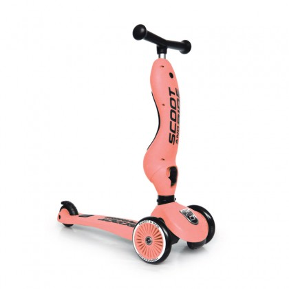 Scoot And Ride SR96353 Highwaykick1 Scooter  for toddler 1-5 years - Peach