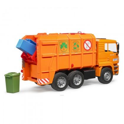 Bruder 02760 MAG TGA Garbage Truck Orange