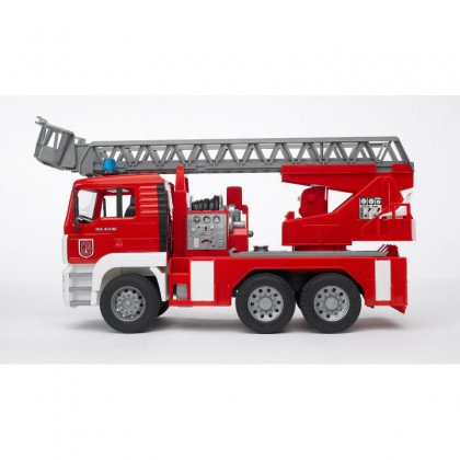Bruder 01981 MAG TGA Fire Engine With Ladder + Toy Helmet