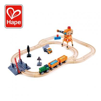 Hape 3732 Crossing & Crane Railway Playset