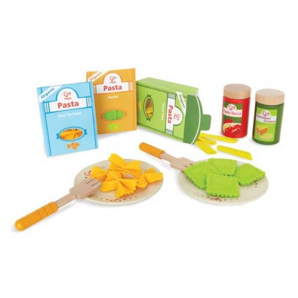 Hape 3125 Pasta Set Role Play Kitchen Accessories for Kids age 3+