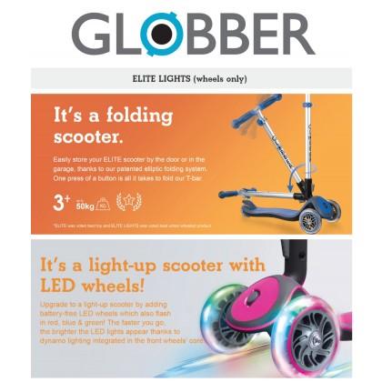 Globber G444400 Elite Deluxe Lights Scooter for kids age 3 & up