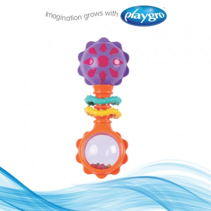 Playgro 4184183 Twisting Barbell Rattle for 3m+