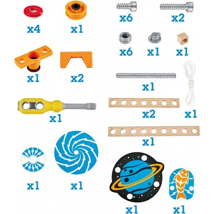 Hape E3033 Junior Inventor Magnet Science Lab  34-Piece Magnetic Science Kit, STEAM Educational Toys for Kids 4 Years and Up