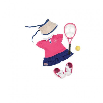 "OUR GENERATION BD30115Z TENNIS OUTFIT 18"" DOLL FOR 3Y+"