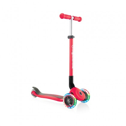 Globber 432102-2 Primo Foldable Light Scooter for kids age 3+ up to 50 kg~New Red with Anodized T-bar