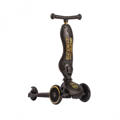 Scoot And Ride 96428 Highwaykick1 Scooter For Toddler 1- 5y - Limited Edition - Black/Gold