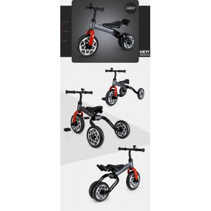 Rastar 3005 Land Rover 2 in 1 Balance Bike & Tricycle Foldable for 2-7years Old ~ Red