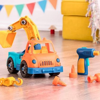 Wonder Wheels 1011 Take-apart Crane Truck for Toddler 3+