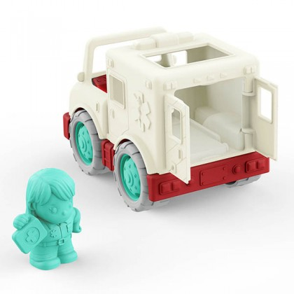 Wonder Wheels 1052 Little Ambulance with Rider Play Vehicle for age 1+