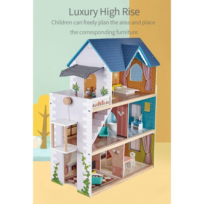 Little Room 841432 Large Doll House Kit Toys Pretend Play for 3y+-By Hape