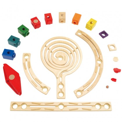 Hape E6007 Quadrilla Xcellerator Race Maze Construction Building Set