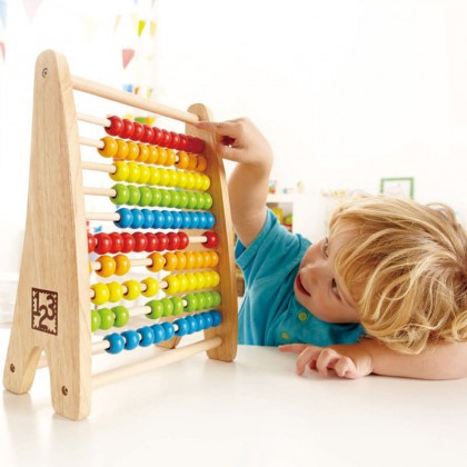 Hape E0412 Rainbow Bead Abacus