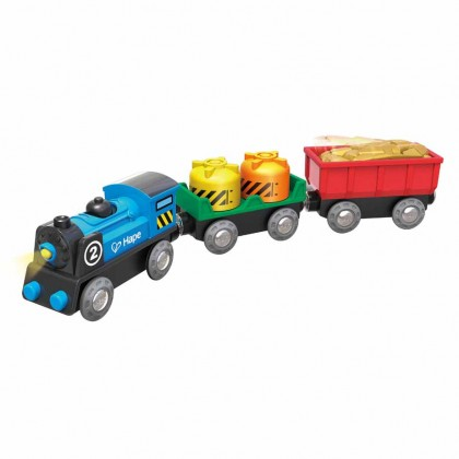 Hape E3720 Battery Powered Rolling Stock Set