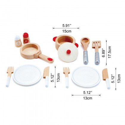 Hape E3150 Cook And Serve Set