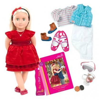 Our Generation BD31045ATZ Deluxe Ginger Doll with Book