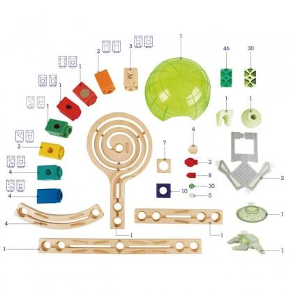 Hape E6017 Space City Marble Run Race Maze Construction Building Set