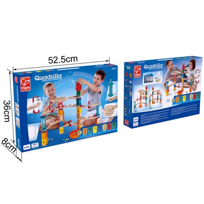 Hape E6019 Castle Escape Quadrilla Marble Run  Race Maze Construction Building Set