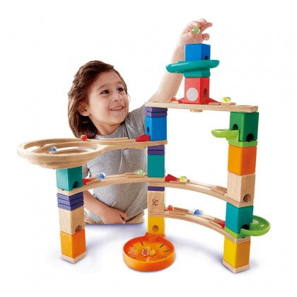 Hape E6020 Cliffhanger Marble Run Race Maze Construction Building Set