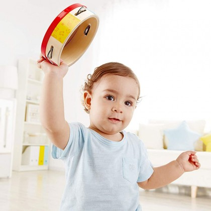 Hape E0607 Tap-Along Tambourine Musical Toy
