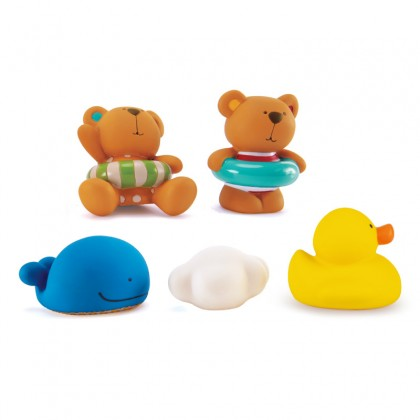 Hape E0201 Teddy And Friends Bath Squirts