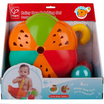 Hape E0206 Rainy Day Catching Set Bath Toy