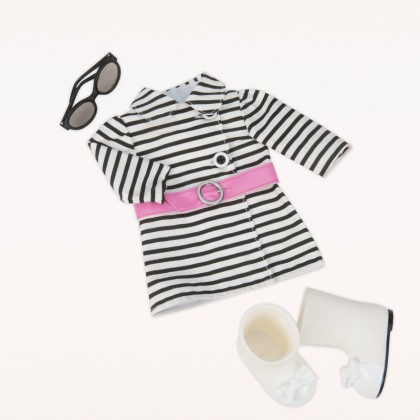 Our Generation  BD60012Z Striped Coat Outfit