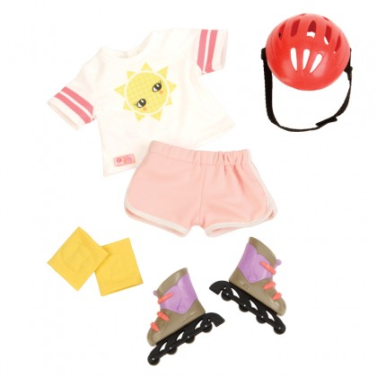 Our Generation BD30242Z Rollerblades & Outfit